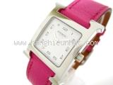 Đồng hồ Hermes dây da màu hồng HH1.210