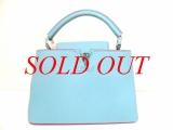 SA Túi Louis Vuitton Capucines BB màu xanh M94726