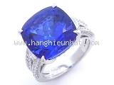 Nhẫn Mikimoto PT950 kim cương đá Tanzanite size 13.5