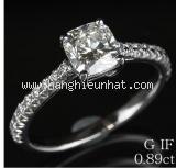 SA Nhẫn Tiffany&Co Pt950 kim cương 0.89ct size 10
