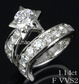 Nhẫn Chanel K18WG kim cương 1.14ct size 7.5