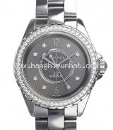 Đồng hồ Chanel kim cương màu xám H2566