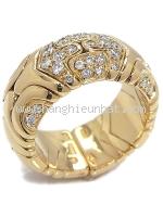 SA Nhẫn Bvlgari vàng K18YG kim cương size 13