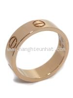 SA Nhẫn Cartier love ring vàng hồng K18PG size 14