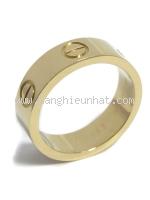 SA Nhẫn Cartier love ring vàng hồng K18PG size 12