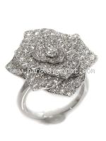 SA Nhẫn Piaget vàng trắng K18WG kim cương size 13