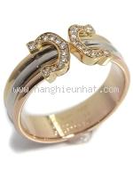 SA Nhẫn Cartier Trinity kim cương size 15