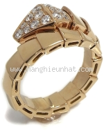 SA Nhẫn Bvlgari vàng K18PG kim cương size 14