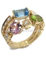SA Nhẫn Bvlgari vàng K18YG kim cương size 14