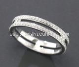SA Nhẫn Hermes K18WG kim cương 0.30ct size 47