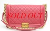S Túi xách Chanel boy màu hồng