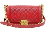 S Túi xách Chanel boy màu đỏ