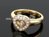 SA Nhẫn Chopard vàng K18YG kim cương size 9