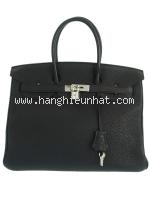 Túi xách Hermes birkin 35 màu đen khóa bạc