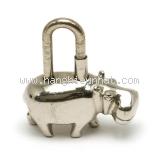 Hermes cadena con hà mã màu bạc