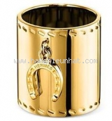 MS9021 Kẹp khăn Hermes vàng tròn hình ống