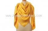 MS8026 Khăn Louis Vuitton len lụa màu vàng