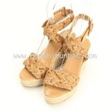 S Sandal Hermes màu kem size 35