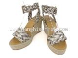 S Sandal Hermes màu bạc size 35