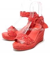 Sandal Hermes màu đỏ size 38