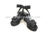 Sandal Hermes màu đen size 35