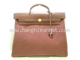 Túi xách Hermes herbag màu đen nâu