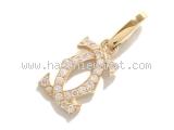 S Mặt dây chuyền Cartier vàng K18YG kim cương