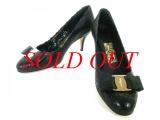 SA Giày Ferragamo màu đen size 5 1/2 D