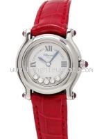 Đồng hồ Chopard kim cương dây da đỏ
