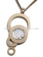 Vòng cổ Chopard vàng hồng K18PG kim cương