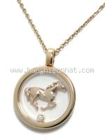 SA Vòng cổ Chopard con ngựa K18PG kim cương