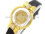 Đồng hồ Chopard kim cương dây da đen