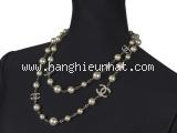 SA Vòng cổ Chanel trắng ngà ngọc trai A14V