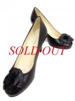 S Giày cao gót Chanel màu đen size 36