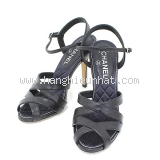 SA Giày Chanel đen xanh hải quân size 37 1/2 C