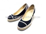 Giày Chanel xanh hải quân size 37