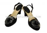 SA Giày cao gót Chanel màu đen size 35 1/2