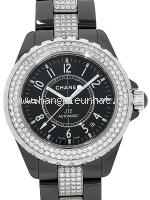 Đồng hồ Chanel J12 màu đen kim cương H1339