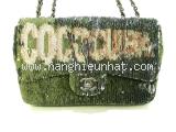 Túi xách Chanel màu xanh lá cây A98613