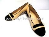 Giày Chanel màu kem đen G32921 size 35 1/2