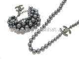 SA Set Vòng cổ và vòng tay Chanel màu xám 14C