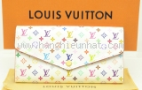 S Ví da Louis Vuitton multicolor màu trắng M60667