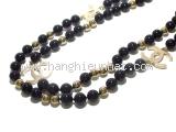 SA Vòng cổ Chanel ngọc trai đen vàng B16S