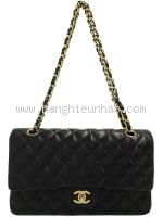 Túi Chanel classic đen lamskin khóa vàng 25