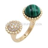 SA Nhẫn Van Cleef&Arpels Ngọc Malachite kim cương