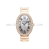 New Đồng Hồ Cartier vàng hồng K18PG kim cương
