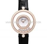 New Đồng hồ Chopard Happy Diamond vàng hồng kim cương
