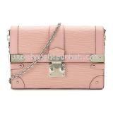 New Túi xách Louis Vuitton Trunk Chain Wallet hồng