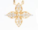 Vòng cổ Louis Vuitton Star Blossom Pendant Pink Gold and Diamonds