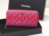 MS32021C Ví Chanel hồng , caviar, zippy